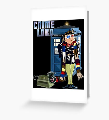 Crime Lord Greeting Card