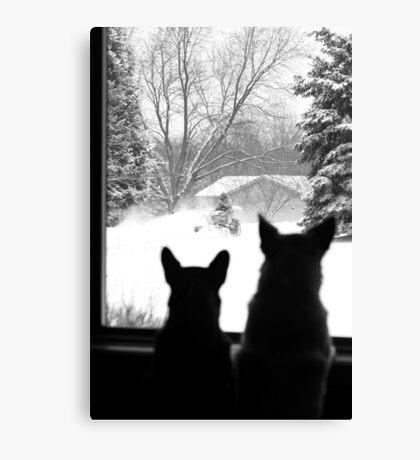 Snow Day Entertainment ~ Canvas Print