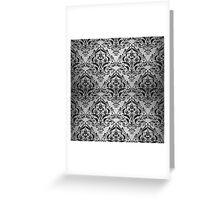 DMS1 BK MARBLE SILVER (R) Greeting Card