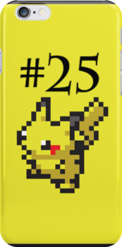 Number 25: Pikachu by Geek-Spirations