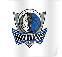 Dallas Mavericks Logo Merchandise Poster