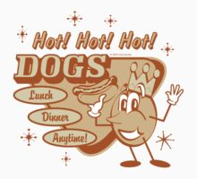 Hot Dog Vintage Hot Dogs by FunnyT-Shirts