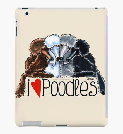 I Love Poodles iPad Case/Skin