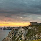 WWII Bunker at Sunset, France by Joshua McDonough