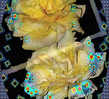Diamond studded yellow roses by ♥⊱ B. Randi Bailey