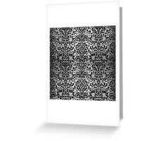 DMS2 BK MARBLE SILVER (R) Greeting Card