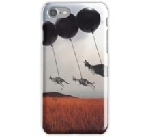 Black Balloons iPhone Case/Skin