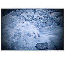 on the glacier Photographic Print
