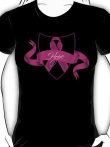 Breast Cancer Hope Ribbon Shield Awareness T-Shirt