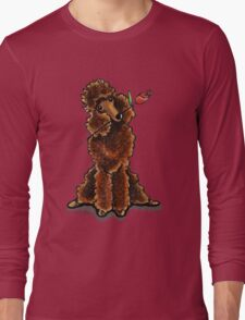 Chocolate Poodle Sweetheart Long Sleeve T-Shirt