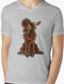 Chocolate Poodle Sweetheart Mens V-Neck T-Shirt
