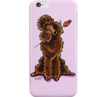 Chocolate Poodle Sweetheart iPhone Case/Skin