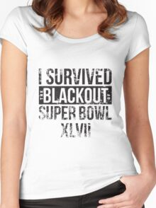 I survived the Blackout of Super Bowl XLVII Women's Fitted Scoop T-Shirt