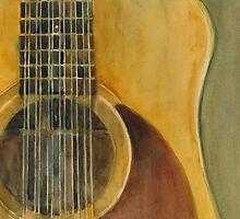 12 String Acoustic Fender Guitar by Dorrie  Rifkin