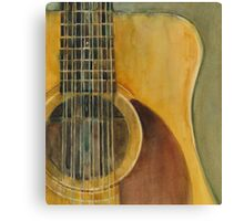 12 String Acoustic Fender Guitar Canvas Print