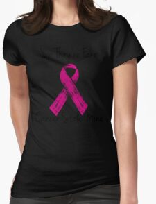 Breast Cancer Survivor Ribbon Womens Fitted T-Shirt