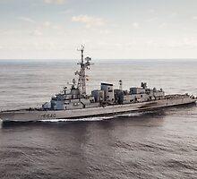 Old French Navy Destroyer by Joshua McDonough