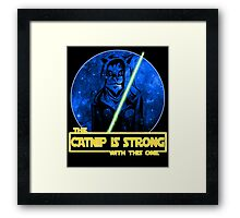 Catnip Is Strong With This One Framed Print