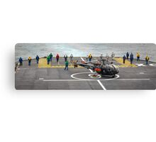 Safety Walkdown - Helicopter Flight Deck Canvas Print