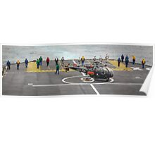 Safety Walkdown - Helicopter Flight Deck Poster