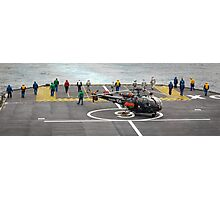 Safety Walkdown - Helicopter Flight Deck Photographic Print