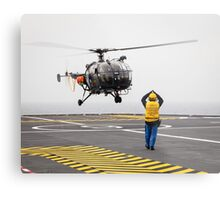 French Aérospatiale Alouette III Helicopter Metal Print