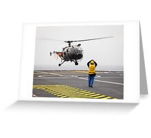 French Aérospatiale Alouette III Helicopter Greeting Card