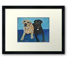 Daisy and Cocoa Framed Print
