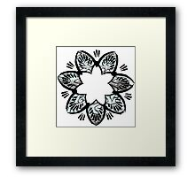 Simplistic and floral Framed Print