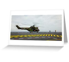 Eurocopter AS332 Super Puma Helicopter Greeting Card