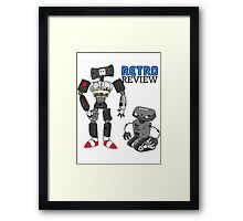 Retro Review Mascot Framed Print