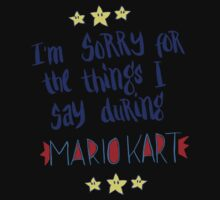 I'm Sorry For The Things, Mario Kart Kids Tee