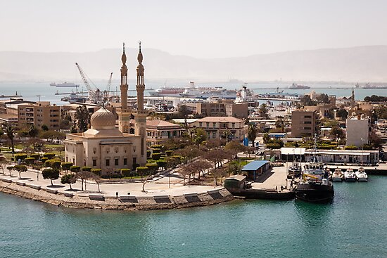 Egyptian Mosque on the Suez Canal by Joshua McDonough Photography