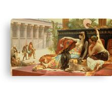 Cleopatra Testing Poisons on Those Condemned to Death  Canvas Print