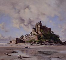 Mont Saint-Michel, North-east Side, 1881 by Bridgeman Art Library