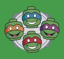 Teenage Blockhead Turtles by Will Wiggins