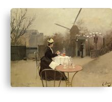 Eating Al Fresco Canvas Print