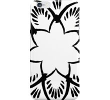 Simplistic and floral (Black and white~) iPhone Case/Skin