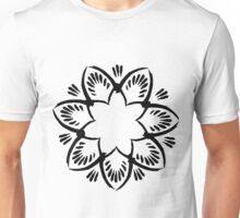 Simplistic and floral (Black and white~) Unisex T-Shirt