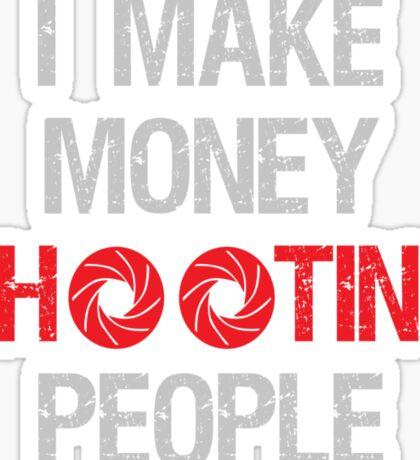 Photographer Shooting People Design Sticker