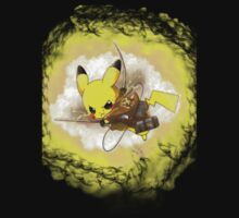 Pikachu! LIGHTNING ON TITAN! Kids Tee