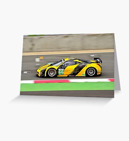 Ferrari F458 GT2 No 66 Greeting Card