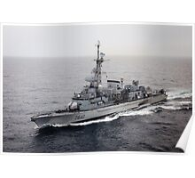 Old French Navy Destroyer Poster