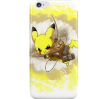 Pikachu! LIGHTNING ON TITAN! iPhone Case/Skin