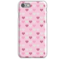 Retro Pink Hearts Pattern iPhone Case/Skin