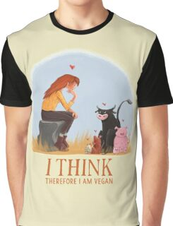 I think therefore I am vegan Graphic T-Shirt