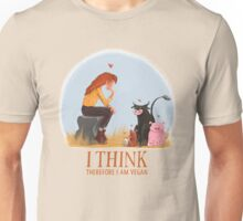 I think therefore I am vegan Unisex T-Shirt
