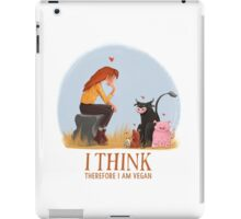 I think therefore I am vegan iPad Case/Skin