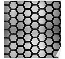 HXG2 BK MARBLE SILVER (R) Poster