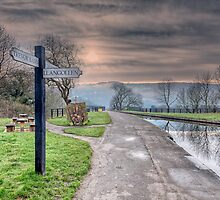 Llangollen Sign by Adrian Evans